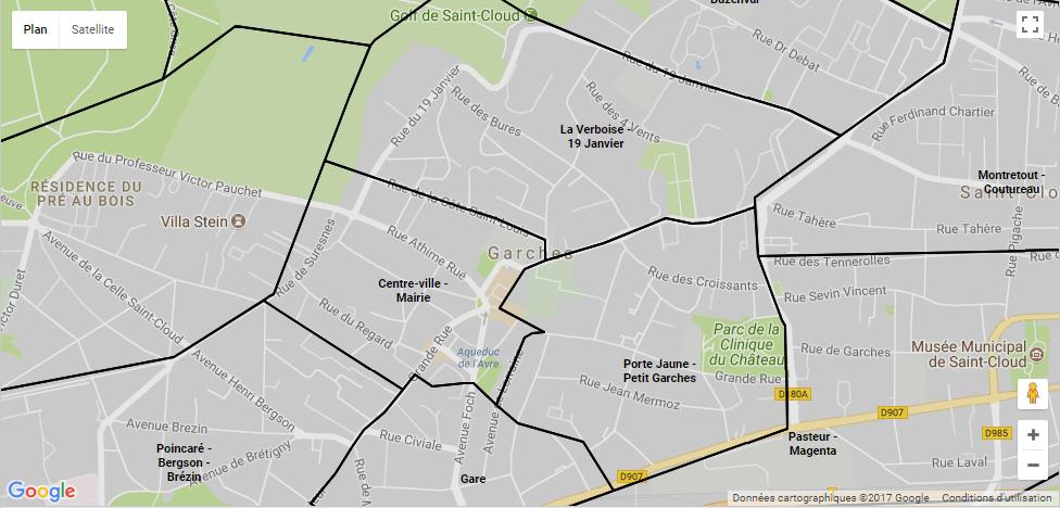 Les quartiers de Garches : comment sont répartis les quartiers de cette ville ?
