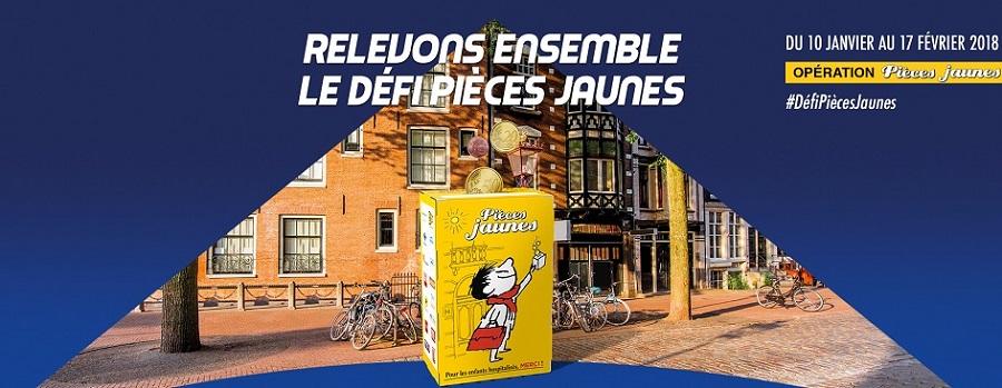 <p>opération pièces jaunes à Caen</p>